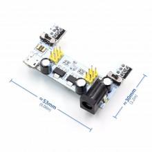 Модуль питания макетных плат - MB102 microUSB Arduino