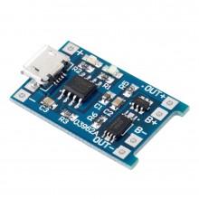 Плата зарядки Li-ion аккум. TP4056 microUSB с защитой
